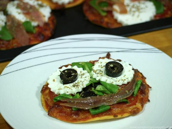 Pizzetas de queso Burgo de Arias