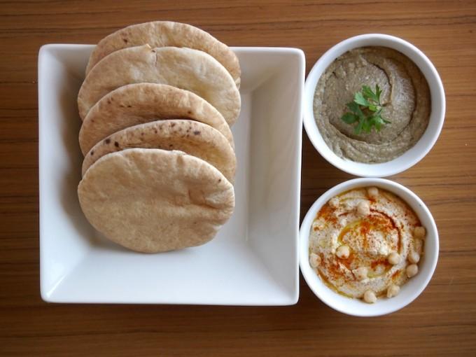 Hummus y baba ganoush