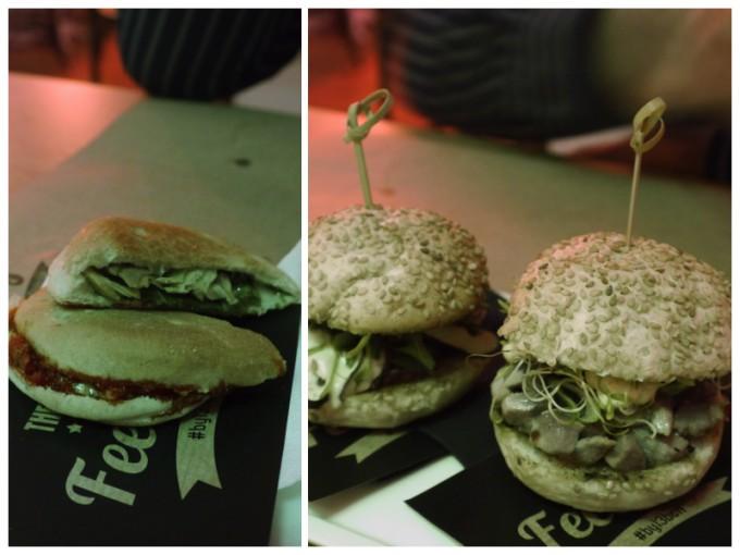 Cocoils y mini hamburguesas