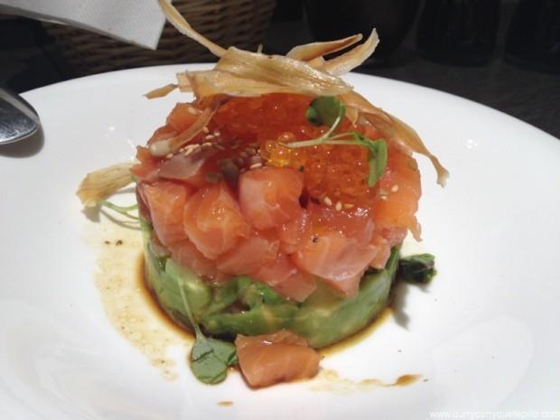 Tartar de salmón y aguacate.