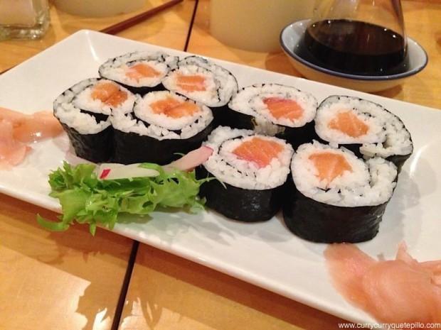 Makis de salmón.