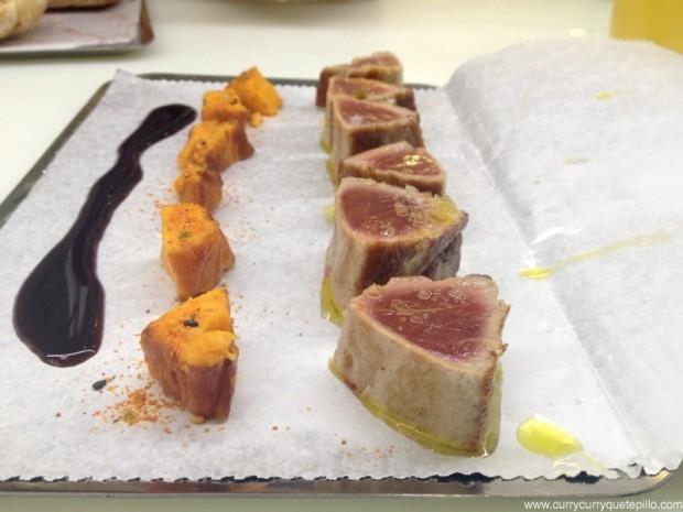 Atún con boniato y salsa teriyaki