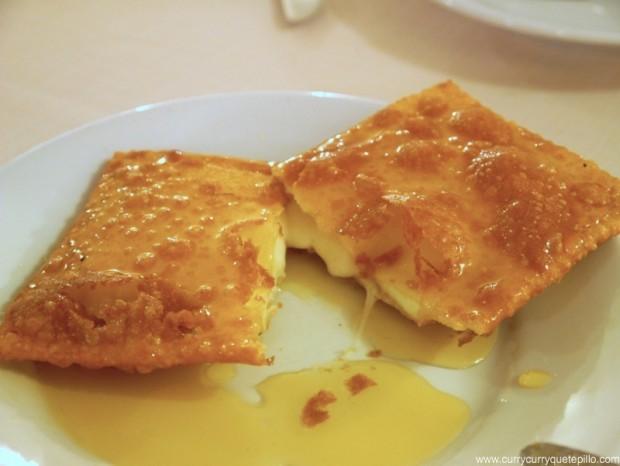 Seadas en el restaurante Li Lioni (Cerdeña)