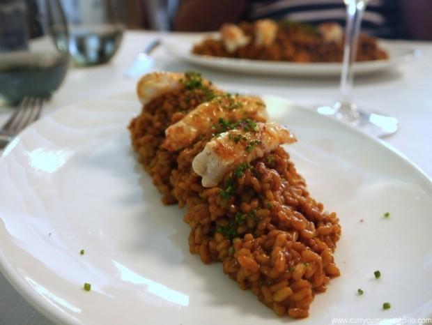 Arròs sec d'escamarlans (Vicus Restaurant).