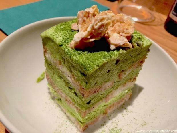 Tiramisú de té verde. Can Kenji.