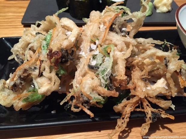 Tempura kakiage de setas y verduras. Can Kenji.
