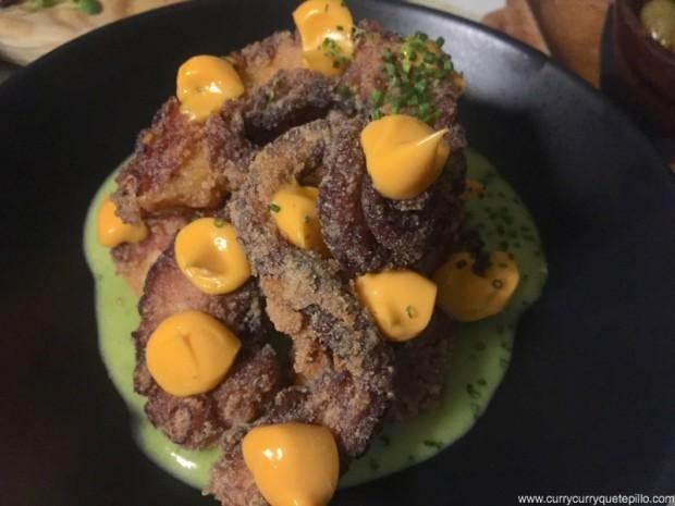 Crocante de pulpo de Arume Restaurante (Barcelona)