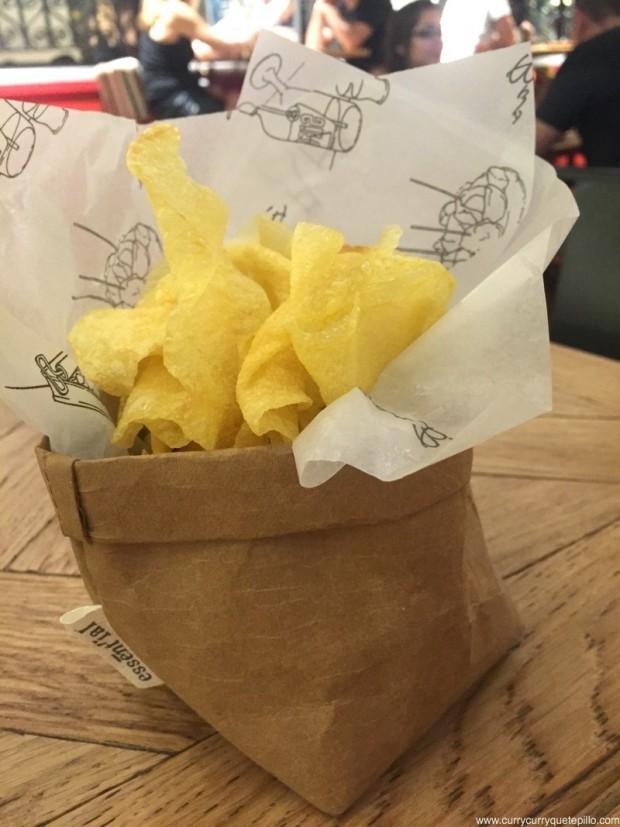 Patatas chips de Bar Bas.