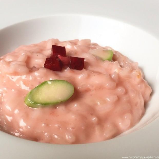 Risotto rosa con arroz 'aquarello'