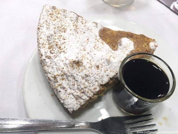 Tarta de Santiago en el restaurante Maxi (Barcelona)