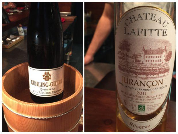 El Riesling y el vino dulce, el líquido que disfrutamos en Dos Palillos.