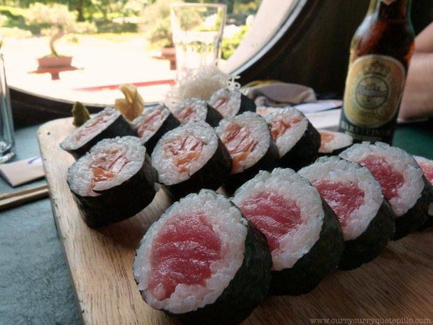 Makis de salmón y atún.